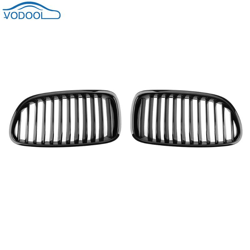 VODOOL 1Pair Gloss Black Car Front Kidney Grilles Auto Replacement Parts For BMW F10 F18 528i 530i 535i 10-16