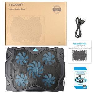 Image 5 - Tecknet Laptop Miếng Lót 12 17 Inch Với 5 Người Hâm Mộ Tại 1500 Vòng/phút 2 Cổng USB Chơi Game Pad trượt Chống Laptop Quạt Làm Mát