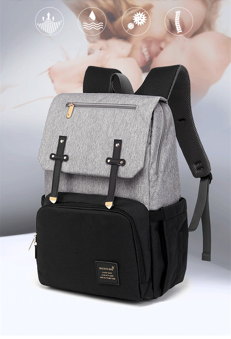 HTB16mNQaOHrK1Rjy0Flq6AsaFXag New Fashion Women Backpack With USB Mummy Daddy Outdoor Travel Diaper Bags Pure Large Waterproof Nursing Bag Baby Care Nappy Bag