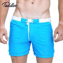 Taddlee Brand Hot Sale Sexy Men Swimwear Swim Boxer Trunks Beach Board Shorts Plus Big Size Solid Color Basic Men's Swimsuits