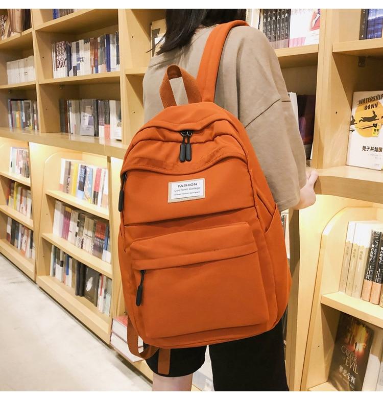 HTB16mNXc8Cw3KVjSZR0q6zcUpXay 2019 New Backpack Women Backpack Fashion Women Shoulder nylon bag school bagpack for teenage girls mochila mujer