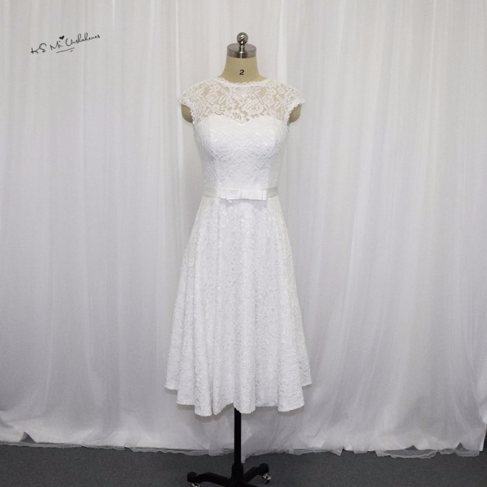 Vintage Wedding Dresses Michigan: Vestido De Noiva Curto Vintage Short Wedding Dress Lace