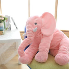 VIP LINK 40cm/60cm Height Large Plush Elephant Doll Toy Kids Sleeping Back Cushion Cute Stuffed Elephant Baby
