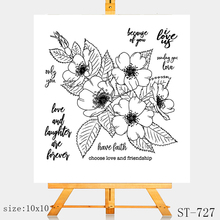 AZSG Rose flowers Transparent Silicone Seal / Stamp DIY clip album decoration transparent seal cutting mold set