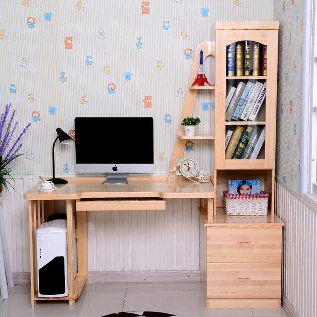 Scrivania Libreria Per Computer.Us 1490 0 Puro Legno Massello Desktop Del Computer Scrivania Libreria Combinazione Di Semplice Studio Per Bambini Alunni Personalizzato Tavolo In