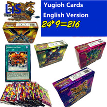 Yugioh 216 Pcs Set With Box yu gi oh Anime Action Figures Game Collection Cards Kids Boys Toys For Children