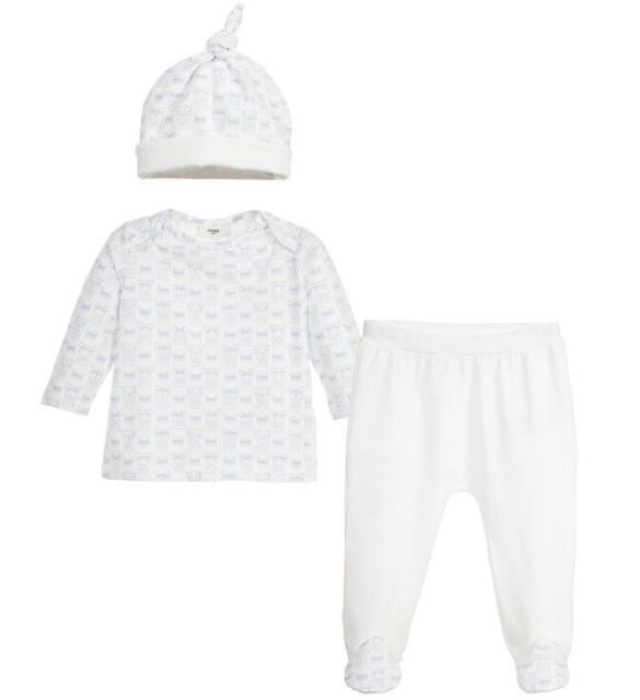 Novo Bebê de três-piece romper terno Do Bebê infantil Dos Desenhos Animados Pacote de impressão pés calças + top + hat set atacado