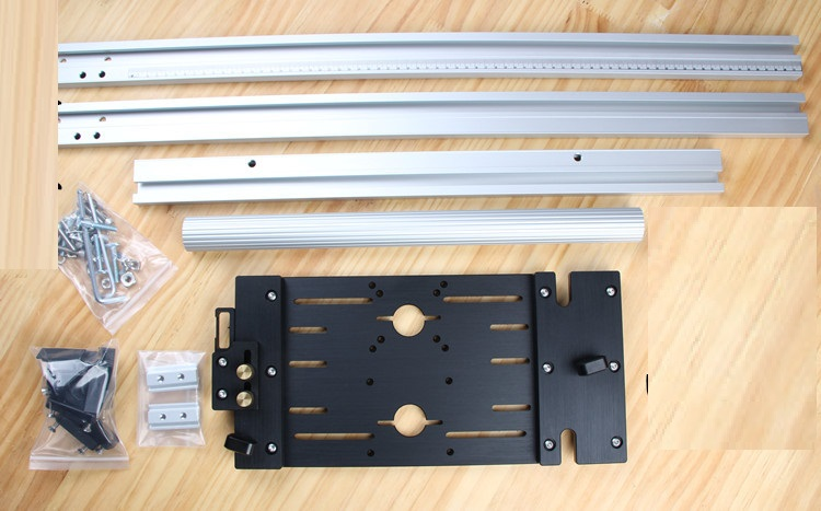 Accurate Reversible Guide Woodwork Edge Guide for Circular Saws Trimmer Marble Machine