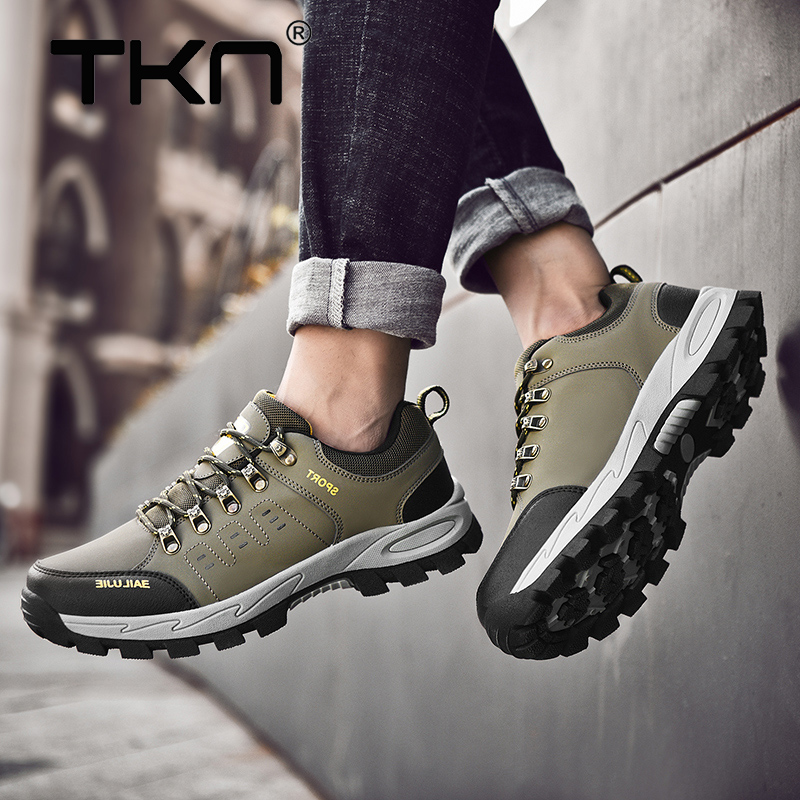TKN 2019 Outdoor Hiking Shoes Men Non-slip Outdoor Breathable Lace-Up Sport Shoes Man climbing Jogging Trekking Sneakers 5858TKN 2019 Outdoor Hiking Shoes Men Non-slip Outdoor Breathable Lace-Up Sport Shoes Man climbing Jogging Trekking Sneakers 5858