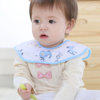 10Pcs Colorful Baby Bibs Print Bavoir Soft Cotton Baby Toddler Newborn Towel Triangle Scarf Waterproof Infant