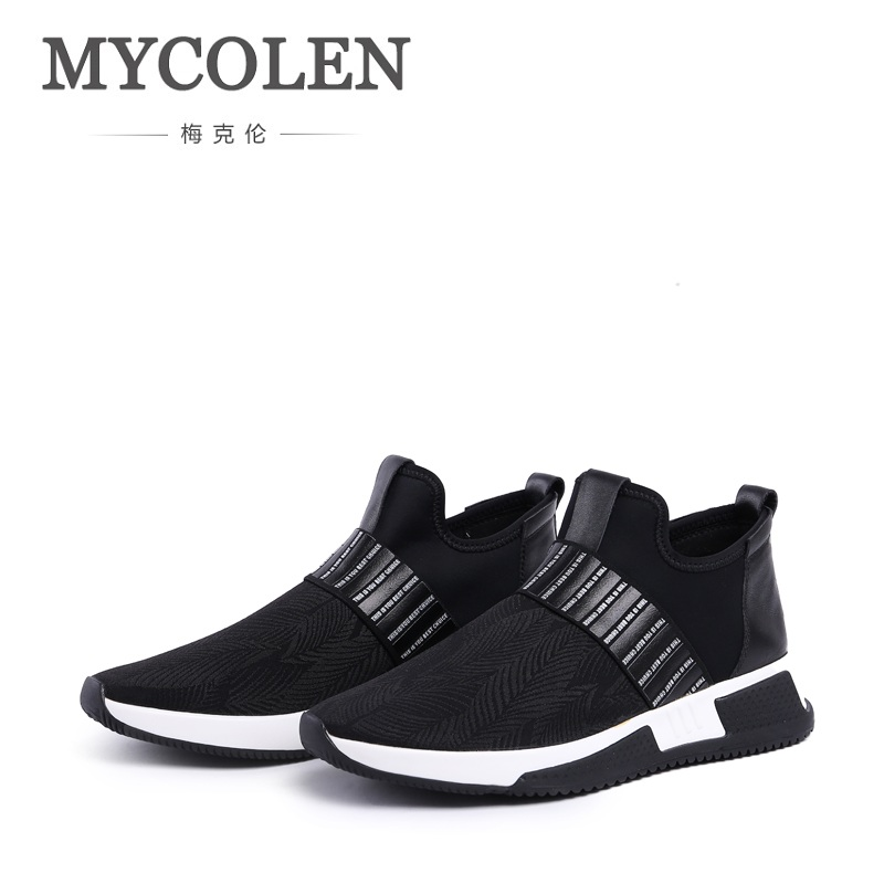 MYCOLEN Hot Men Shoes Fashion Autumn Winter Genuine Leather Breathable For Man Casual High Top Thick Bottom Canvas Men Shoes mens casual leather shoes hot sale spring autumn men fashion slip on genuine leather shoes man low top light flats sapatos hot