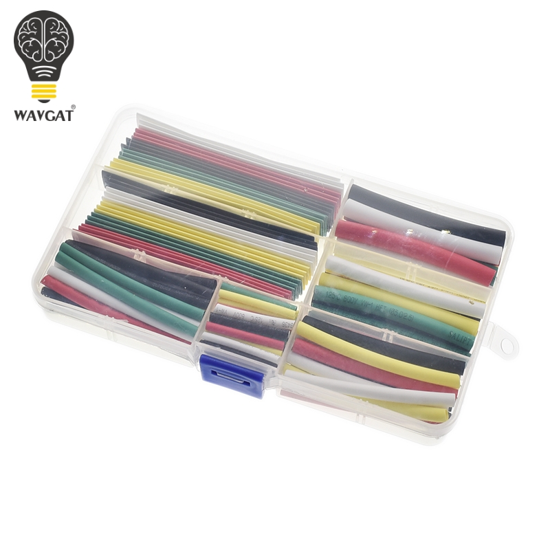 WAVGAT Heat Shrinkable Tube Technicolor 2mm 3mm 4mm 5mm 6mm 8mm 10mm Tubing Sleeving Wrap Wire Cable Kit