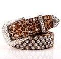 Shipping / new 2014 / de la correa / correas para mujeres / cuero genuino / 001 / cinturones femeninos / marca / moda de la correa / hebilla de metal / diamante