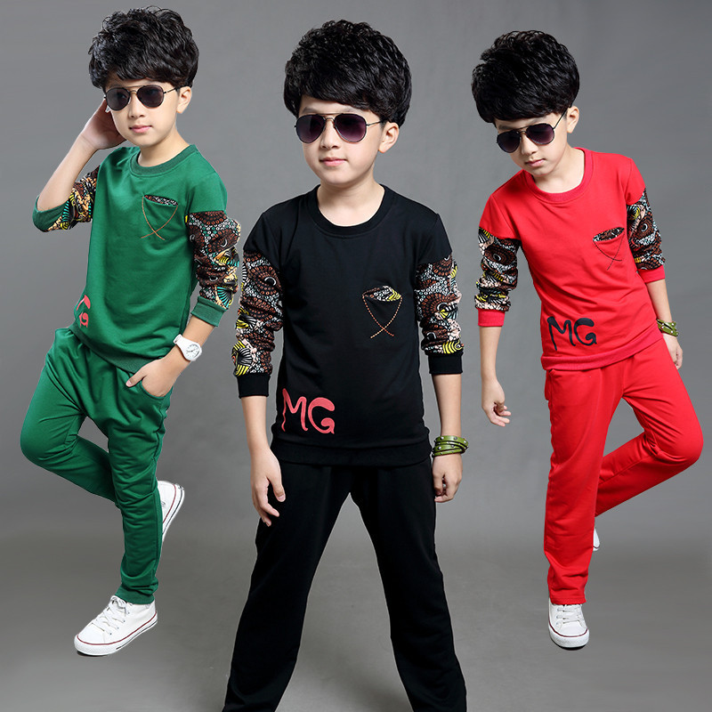Spring Autumn Fashion Boy Set Long Sleeve O-Neck Baby Suit Casual Children Clothing Toddler Boy T Shirt Pants Sets Kids Clothes 2016 spring autumn cotton fashion boys clothes 3pcs children clothing sets long sleeve t shirt vest casual pants outfits b235