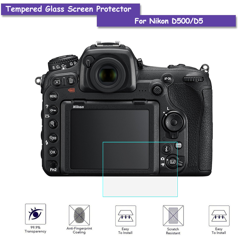 9H Tempered Glass LCD Screen Protector Real Glass Shield Film For Nikon D500/D5 Camera Accessories