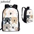 Jackhereluk детские школьные сумки для мальчиков и девочек с милым мультяшным животным принтом Koala детские рюкзаки большая ортопедическая сумка ...