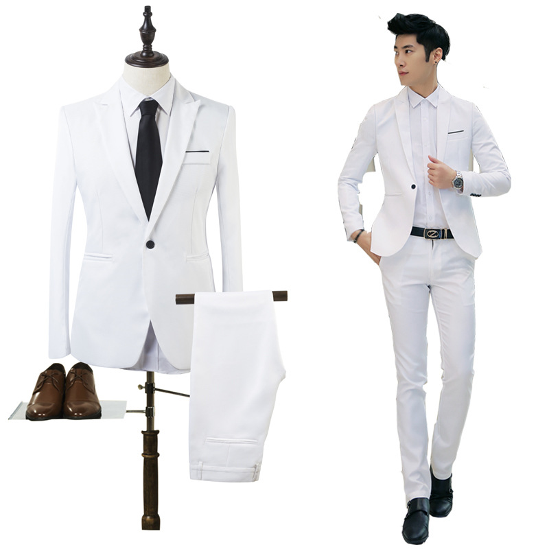 Fashion business casual mens blazer suits wedding bridegroom suits Male groom dress men wedding Blazers sets jacket + pants