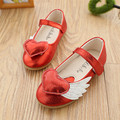 causal girl leather shoes elegant wings heart design princess sandal shoes for 3-6yrs girls children kids outdoor leather shoes