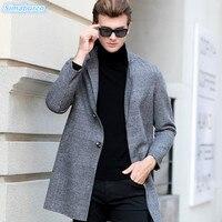 2018 Осень Зима повседневные новые брендовые шерстяной мужской свитер с отложным воротником Slim Fit мужские свитера кардиган мода высокого кач