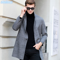 2018 Autumn Winter Casual New Brand Wool Sweater Men Turn down Collar Slim Fit Male Sweaters Cardigan Fashion High Quality