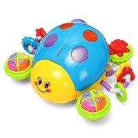 2012-6A Kids Puzzled Speelgoed Baby Muziek Crawl Lieveheersbeestje speelbal Elektrische Geluid Speelgoed met Music & Light Onderwijs Speelgoed voor Kinderen