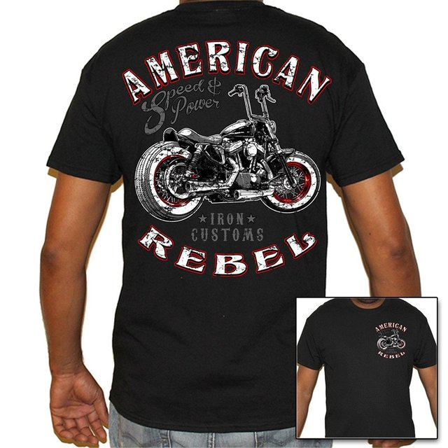 Summer Men Fashion Tshirt Bikerss Life USA