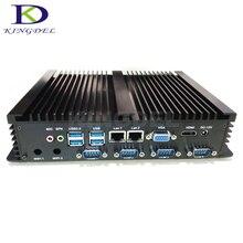 4 г Оперативная память + 128 г SSD Безвентиляторный Intel Celeron 1037U Dual Core промышленных мини настольных ПК, Dual LAN, 4 * COM RS232, USB 3.0, WI-FI, HDMI, VGA