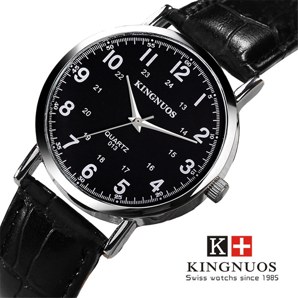 KINGNUOS 2017 Fashion Quartz Watch Men Watches Top Brand Luxury Male Clock Business Mens Wrist Watch Hodinky Relogio Masculino kingnuos new quartz watch men watches top luxury brand male clock stainless steel wrist watch for men hodinky relogio masculino