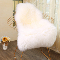 Soft Fur Artificial Sheepskin Hairy Carpet for Living Room Bedroom Rugs Fur Fluffy Area Rugs Washable Chair Cover Faux Mat
