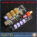 Amanero Combo384 Interfaz USB Para Coaxial de salida I2S DAC Digital Más Allá de XMOS DAC soporta Actualización DSD1796 U8