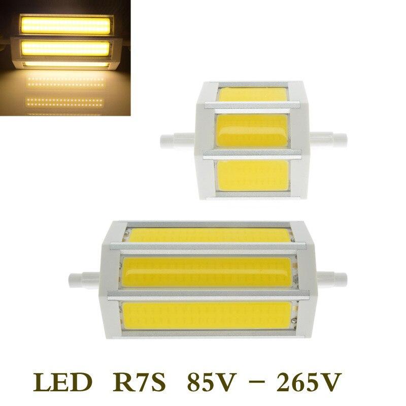 10pcs lots r7s cob led bulb r7s led lights 78mm 118mm 12w 20w j78 j118 lamp ac110v 127v 220v for R7s led 118mm 20w