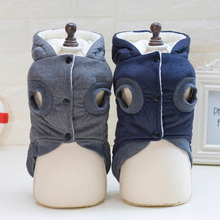Puppy Pet Dog Cat Clothes Hoodie Winter Warm Sweater Coat Costume Apparel Solid Jacket