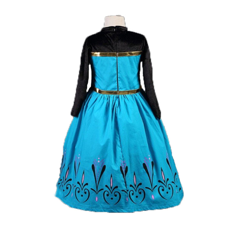 2019 New Elsa Dress Girls Summer Dress Princess Anna Cosplay Costume Dresses For Girl Princess Vestidos Menina