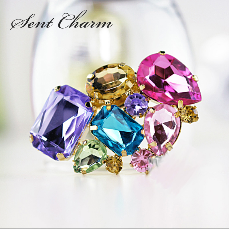 1 Pair Classical Colorful Shoes Accessories Detachable Crystal Shoe Charms For Womens High Heel Shoes