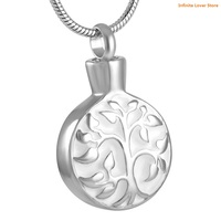 KLH8126 Lifes Branches Cremation Necklace,Stainless Steel Tree of Life Cremation Jewelry for Human Ashes or Memorial