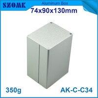 4 pçs/lote olhando lisa prata caso de distribuição para a indústria de perfis de alumínio 74*90*130mm case for case caselot lot -