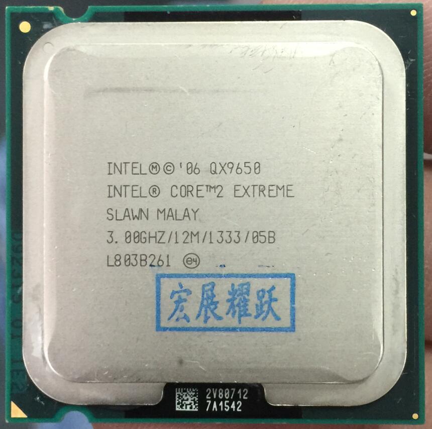 Procesador Intel Core 2 Extreme QX9650 SLAWM (12 M Cache 3,0 GHz 1600 MHz FSB) LGA775 escritorio CPU 100% funciona correctamente escritorio procesador