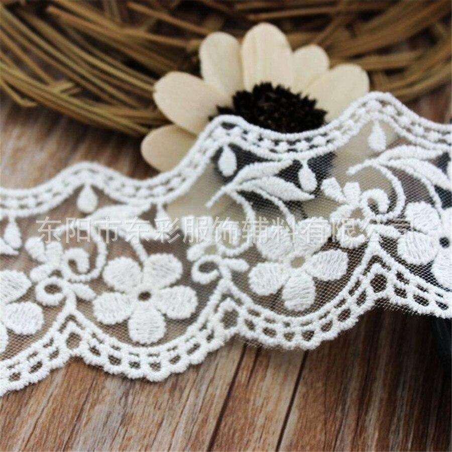 15yard * 5.5 cm Bordado Encaje algodón cinta Encaje para DIY Costura ...
