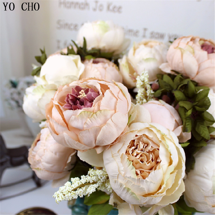 Artificial peony bouquet wedding decoration artificial peonies silk artificial peony bouquet wedding decoration artificial peonies silk flower bouquet fake rose decorative flower home party decor in artificial dried izmirmasajfo Images