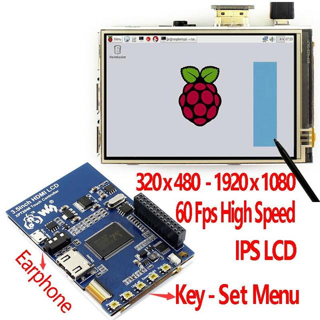 Raspberry Pi 3.5 inch HDMI LCD touchscreen 3.5inch display 60 fps 1920*1080 IPS touch screen
