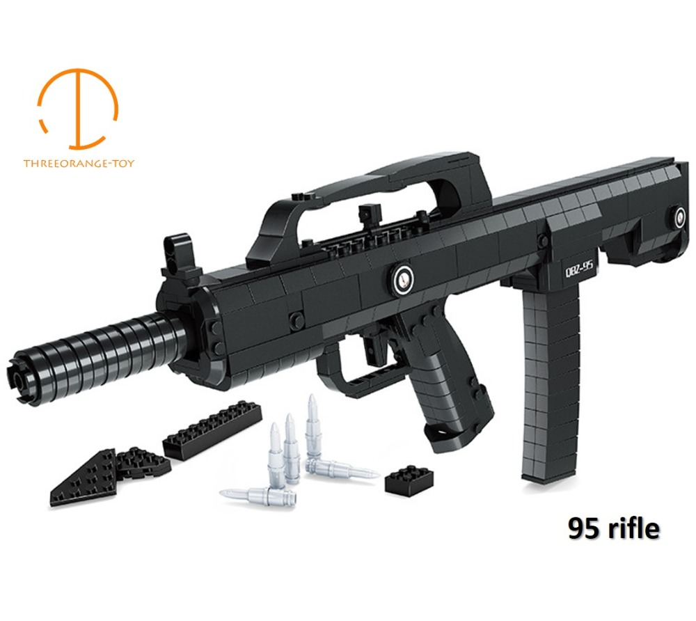 Simulation AK47 M4A1 M16 Carbine Guns Toy Gun Military Technic Model Building Block Brick Compatible Legoed Toy Gifts For Kids