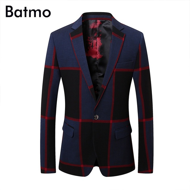 6112db1a99 Aliexpress.com : Buy Batmo 2018 new arrival high quality Single Breasted  plaid Smart Casual suits men,men's plaid blazer plus size XF1806 from ...