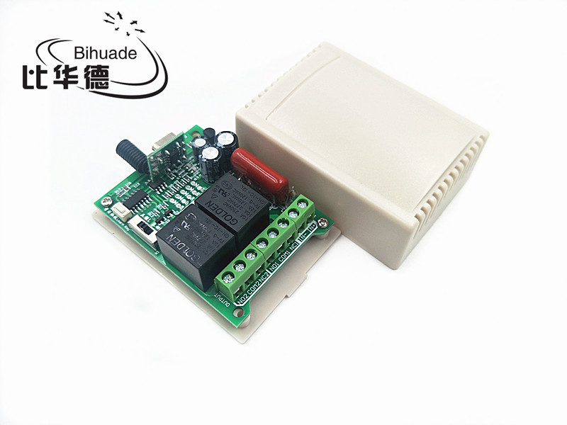 315Mhz Universal Wireless Remote Control Switch DC 220V 2CH relay Receiver Module with RF Transmitter 315 Mhz Remote Control image