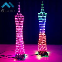 Colorful LED Tower Display Lamp W Infrared Remote Control Electronic DIY Kits Precise Soldering Kits DIY