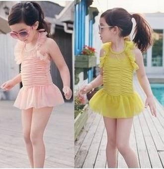 Arrive Baby Girls Toddler Swimwear lace Bikini Kids Bathing Suit One-Piece Swimsuit CT119 - Sweet Home store