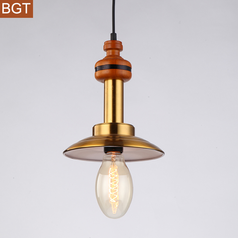 Lights & Lighting Warm Loft Lantern Pendant Lights With Copper Lampshade Northern Europe Countryside Vintage Antique Hanging Lightings Fixtures Ceiling Lights