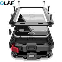 OLAF Heavy Duty Case Metal Case Shockproof Cover For Iphone X 5 5s Se 6 6s