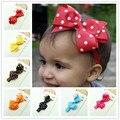 Baby Girl Headbands Polka Dot Ribbon Bow Headband flower Hair Bow Elastic Infant Kids Hairband