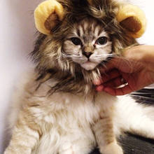Pet Lion Mane Costume for Cats Small Dogs Funny Pet Lion Wig with Ears Cat Costume Apparel Accessories for Halloween Party(China)
