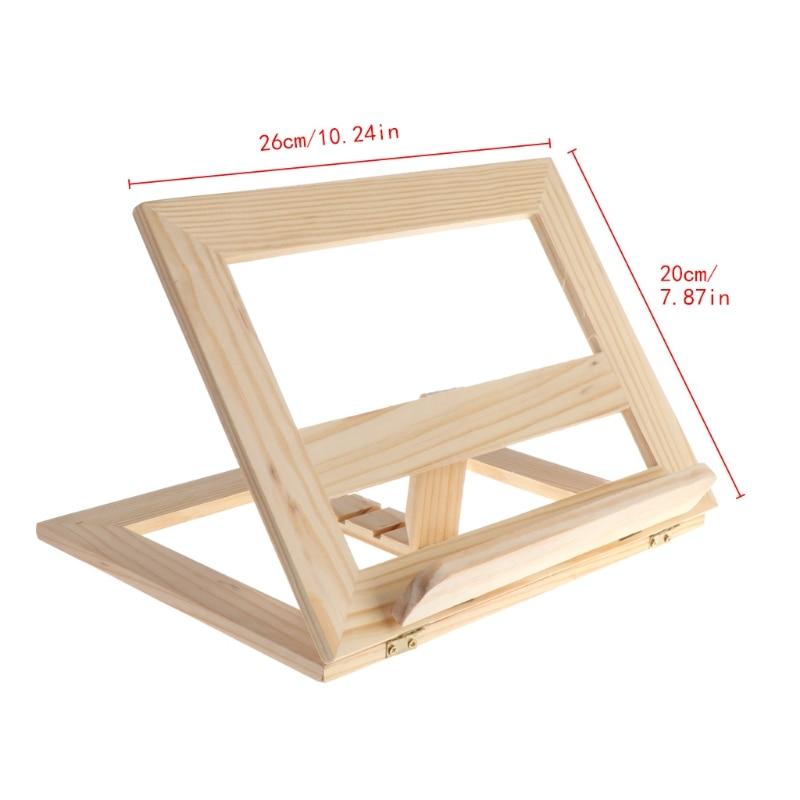 Wooden Pad Easel Adjustable Tablet Document Cookbook Display Stand Holder antony s weekend cookbook